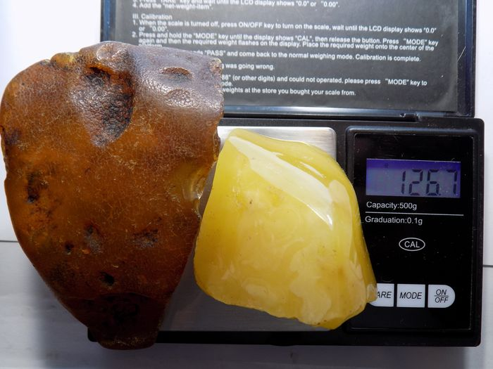 A set of two large ones Baltic Amber - 126 g