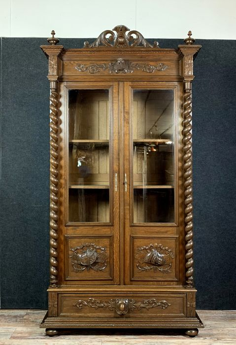 Library - Renaissance style hunting lodge - Second half 19th century