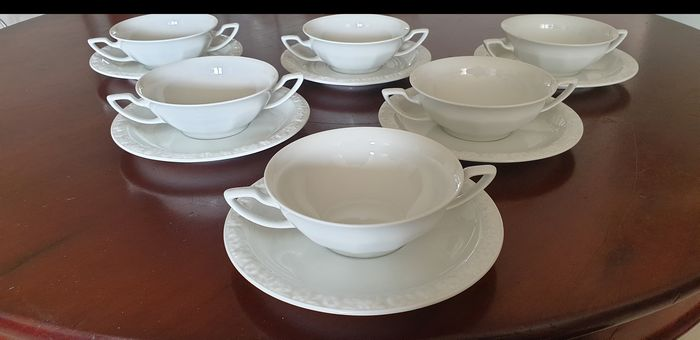 Rosenthal - Soupbowl with saucers (6) - Porselein