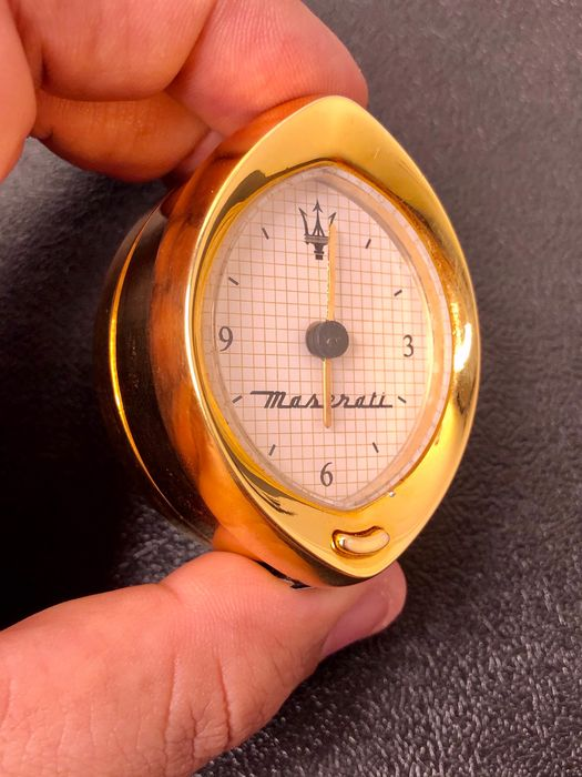 Watch - Maserati gold analogue dash clock - Maserati - After 2000