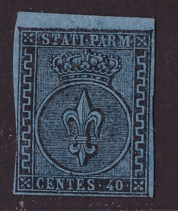 Italian Ancient States - Parma 1852 - 40 cents light blue first issue - Sassone N. 5