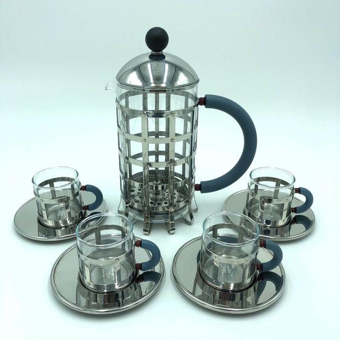 Michael Graves  - Alessi - Cafetière & Espresso cup and saucers