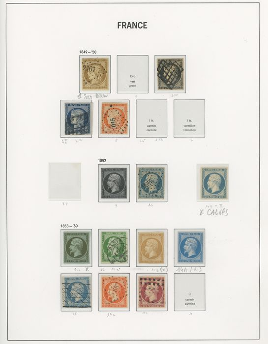 France 1849/1870 - A lovely collection of classic Ceres and Napoleon stamps, including signed stamps. - Yvert Entre les n°1 et 60