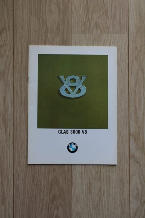Brochures / catalogues - Duitstalige BMW Glass 3000 V8 brochure - BMW - 1960-1970