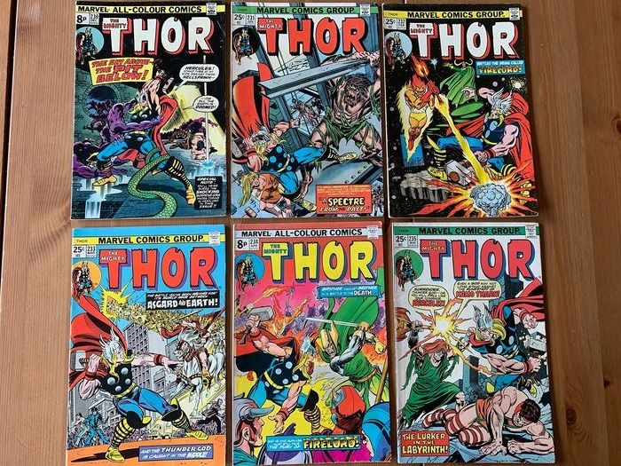 Thor 230-231-232-233-234-235 - High Grade - Early Firelord Appearance - Broché - EO - (1974/1976)