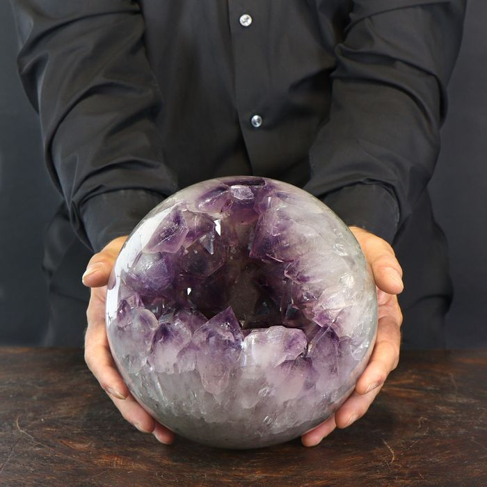 Large and Top Quality Amethyst Sphere - 210×210×210 mm - 9300 g