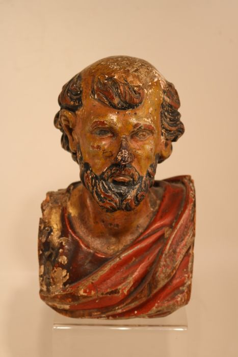 Beautiful antique bust - Wood - Early 19th century