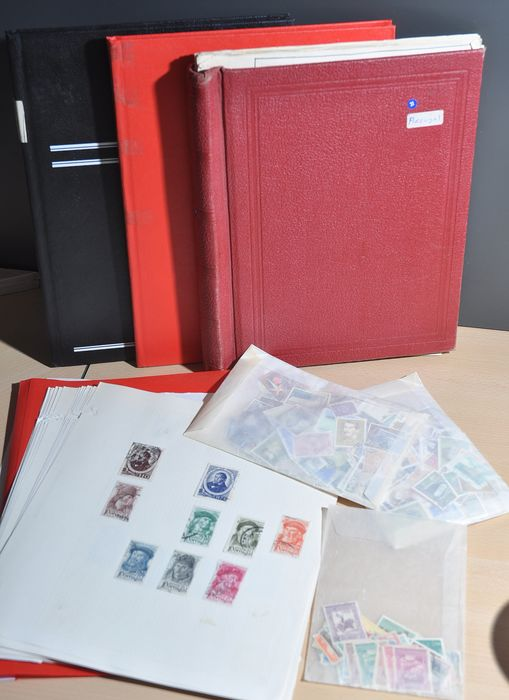 Portugal - Batch starting with classics in albums and in a stock book