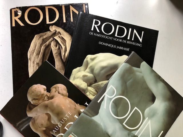 Auguste Rodin - Lot with 4 books - 1961/1998
