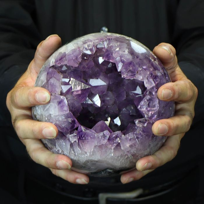 Top Quality Amethyst Sphere with nice cavity - 160×160×145 mm - 4600 g