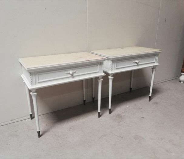 Pair of 70's bedside tables in Shabby