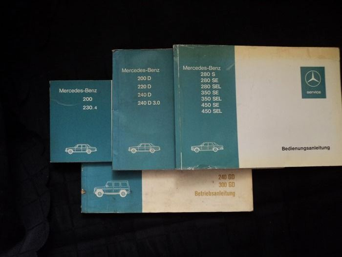 operating instructions - Mercedes-Benz - 1970-1980
