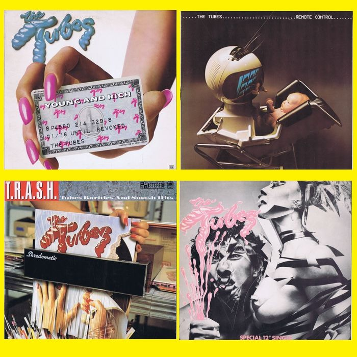 """The Tubes - 1. Young and Rich 2. Remote Control 3. T.R.A.S.H. 4. White Punks On Dope (12"""")  - (Veel 3x LP's + 12 """"EP) - 1976/1981"""