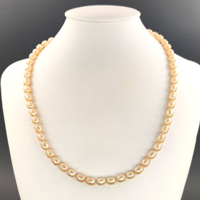 18 kt. Freshwater pearls, Yellow gold - Necklace