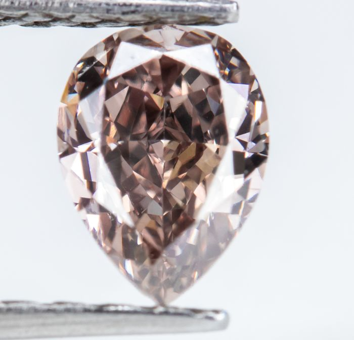Diamond - 0.55 ct - Natural Fancy Brown-Pink - SI1  *NO RESERVE*