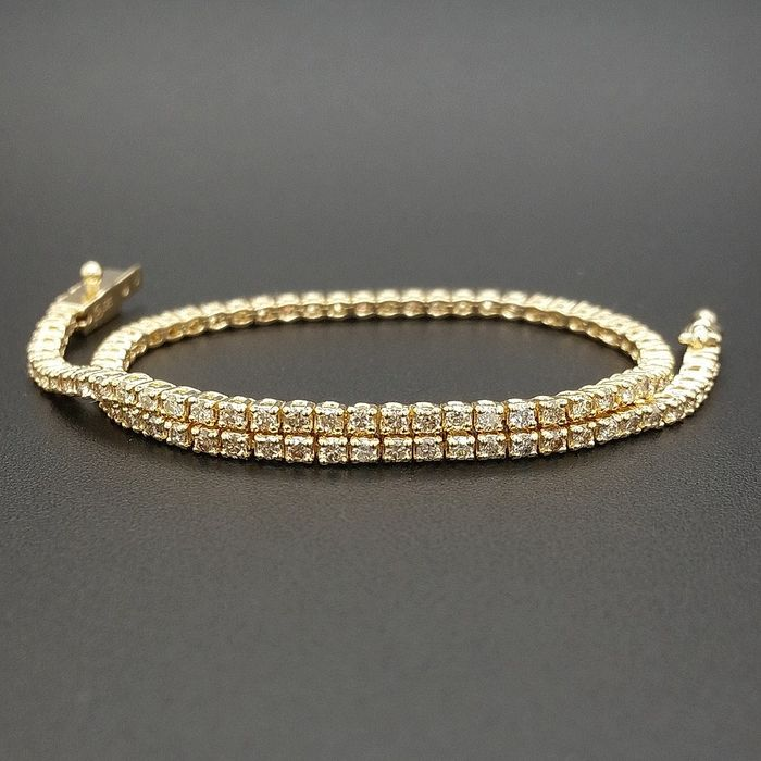 1.25ct Mix Colors Diamonds - 14 kt. Yellow gold - Bracelet - ***No Reserve Price***