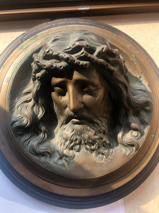Christ, Relief (1) - Bronze (patinated) - First half 20th century