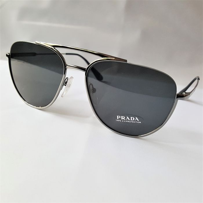 Prada - Pilot Aviator Semi Rim Silver - New - Made in Italy - 2020 Sunglasses