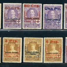 Espagne 1927 - Overprinted stamps of the colonies - Unificato NN. 329/38