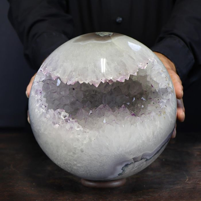 Large and Top Quality Amethyst Sphere - 210×210×210 mm - 12200 g