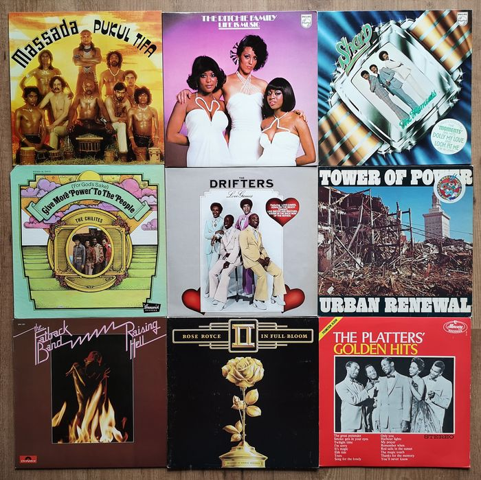 Various Artists/Bands in Soul - Multiple artists - Multiple titles - LP's - 1971/1979