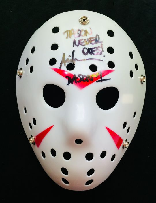 Ari Lehman ( Friday the  13th - The First Jason ) - Autograph, Authentic Signed Mask  with Certificate Of Authenticity PA