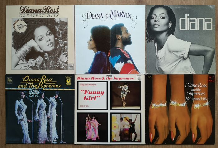 Diana Ross, Diana Ross & The Supremes, Marvin Gaye - Multiple artists - Multiple titles - LP's - 1968/1979