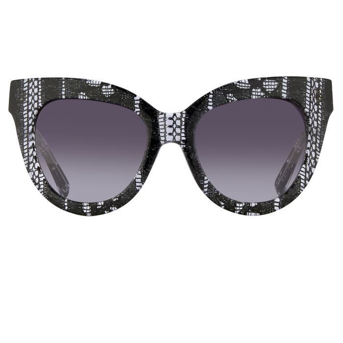 "Erdem - Cat Eye Black Lace with Grey Graduated Lenses - EDM21C1SUN""NO RESERVE PRICE"" Sunglasses"