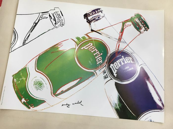 Andy Warhol - (after) Perrier - reprinted - 1990