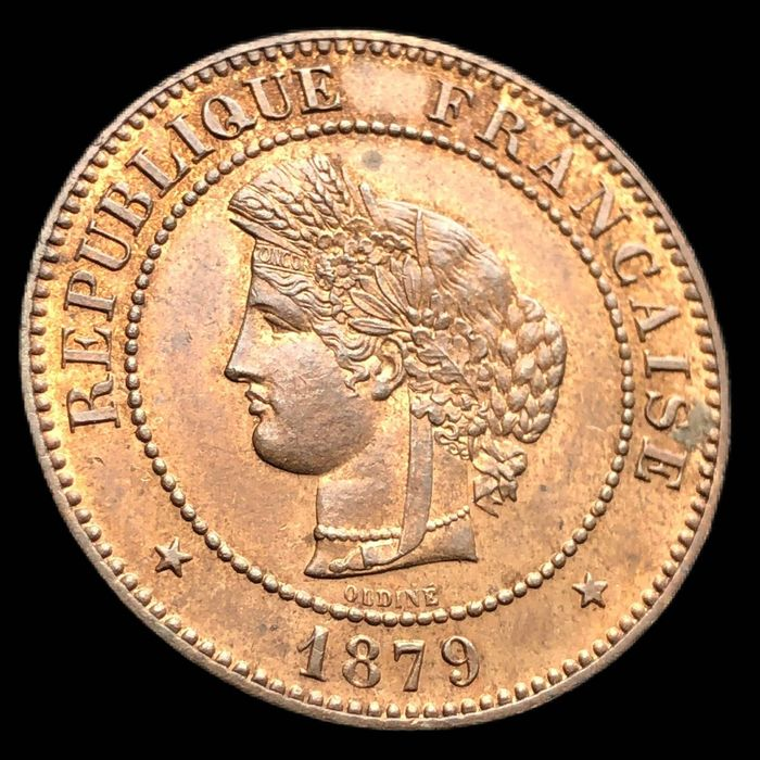 France - 5 Centimes  1879-A Cérès - Bronze