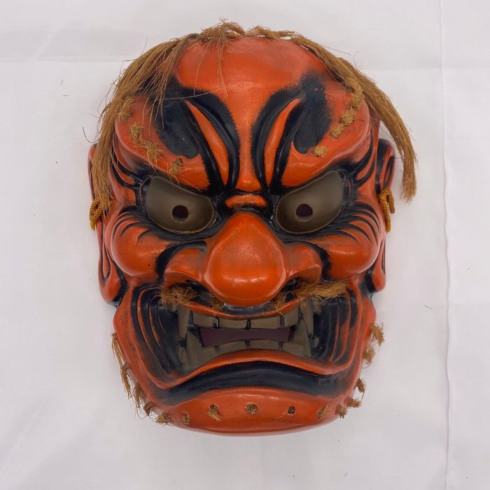 Kagura-Maske - Töpferware - 'Sato kagura no oni' 里神楽の鬼 (Demon of village kagura) - Japan - Shōwa Zeit (1926-1989)