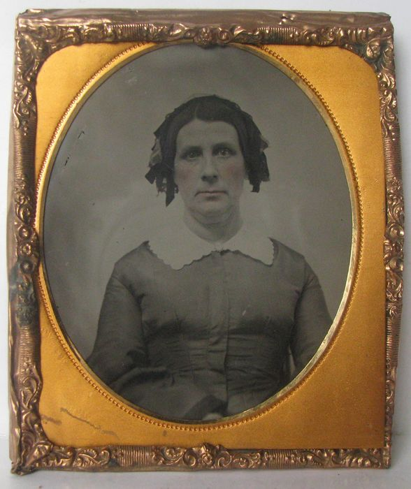 . Fine quality  ambrotype- Portrait of a lady, 1860's