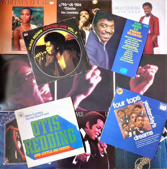 Various Artists/Bands in Soul - Multiple artists - Multiple titles - LP's - 1968/1986