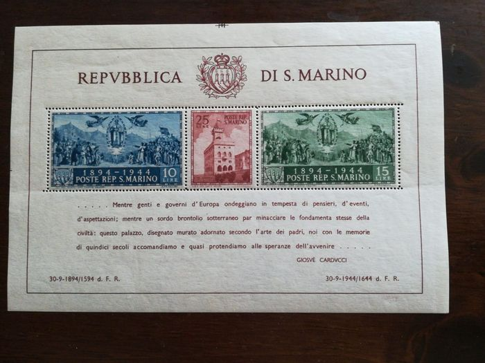 San Marino 1894/1990 - Used, collection remnants