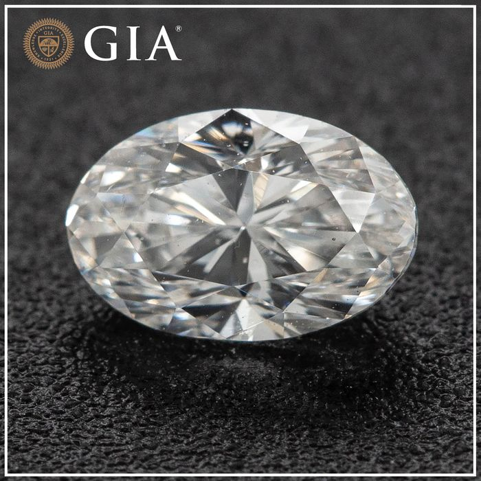 Diamant - 0.46 ct - Oval - E, No Reserve Price - SI1