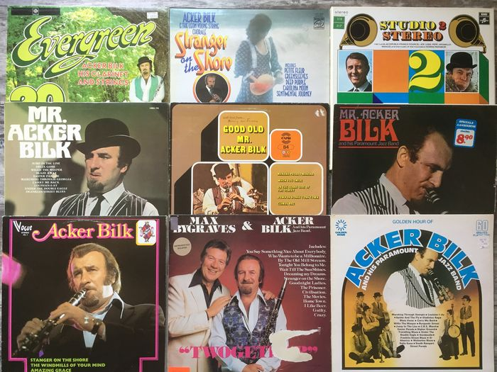Various Artists/Bands in Jazz, Chris Barber, Mr. Acker Bilk and many others. - Multiple artists - Multiple titles - 2xLP Album (double album), LP's - 1958/1984