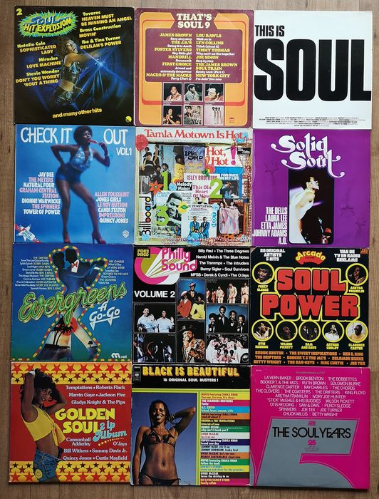Various Artists/Bands in Funk, Various Artists/Bands in Soul - Multiple artists - Ultimate collection of soul, funk & R&B albums - Multiple titles - LP's - 1969/1984