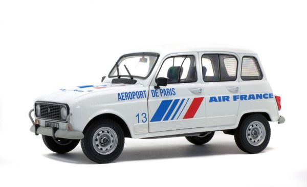 Solido - 1:18 - Renault 4L GTL Air France 1978  - white blue red