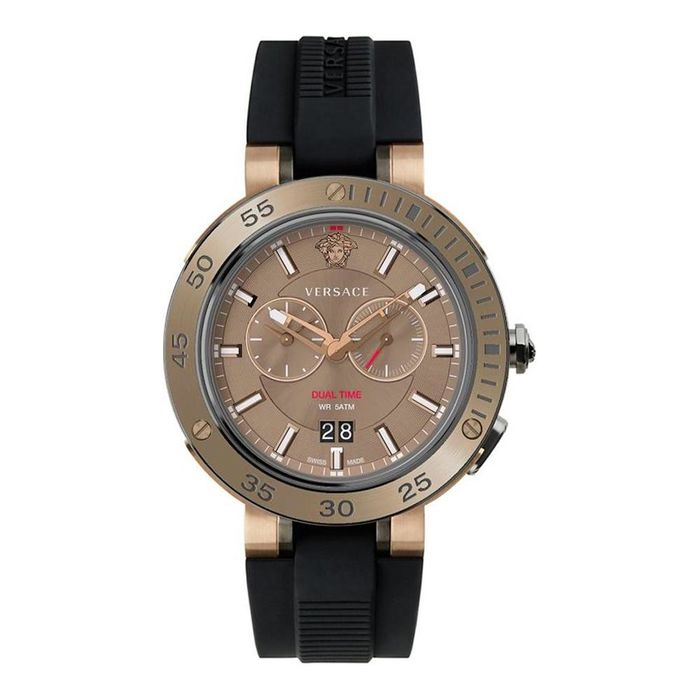 Versace - V-Extreme Watch GMT Two Tone Black PVD and IP - VECN00319 - Uomo - 2011-presente