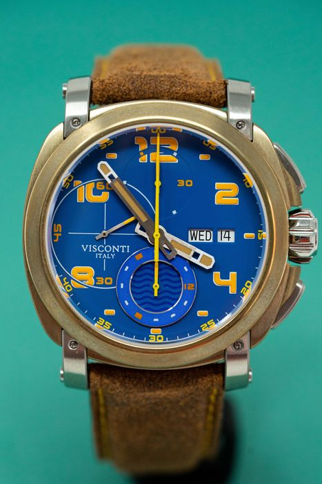 Visconti - Automatic Chronograph Watch Majorca Bronze LIMITED EDITION - KW30-31 - Herren - Brand New