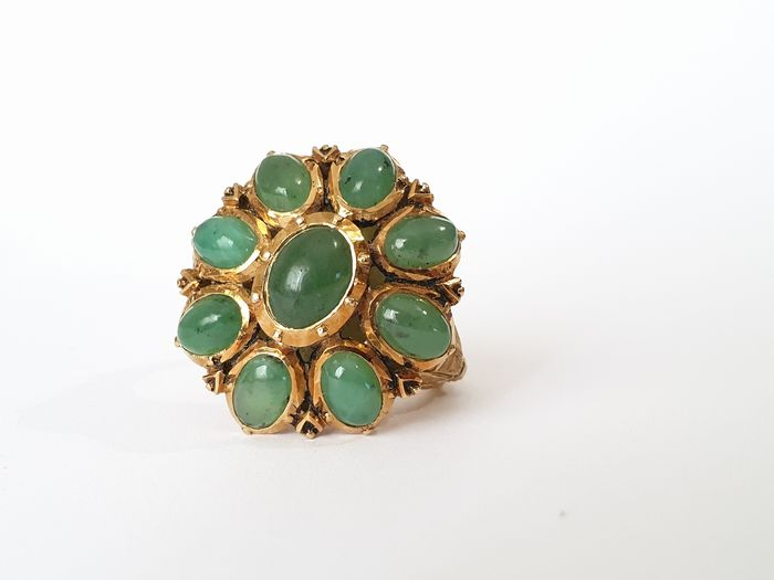 19,2 kt. Gold - Ring - 4.50 ct Emerald