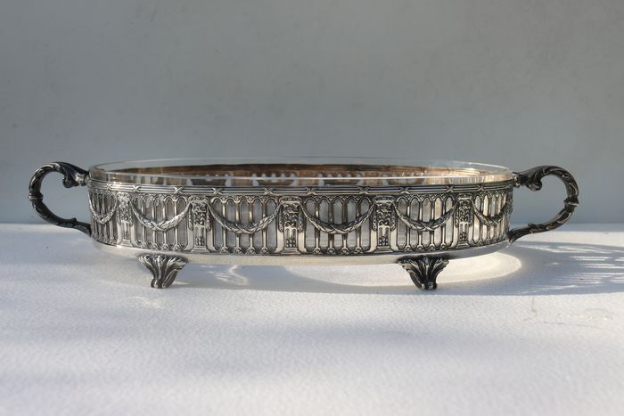 Victor Saglier planter (1) - Louis XVI - Crystal, Silver plated - 1842 - 1894