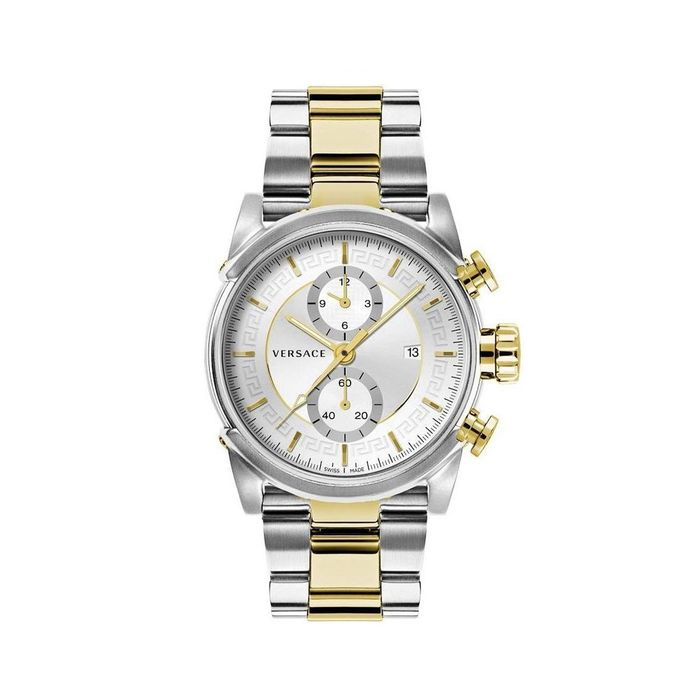 Versace - Urban Chronograph Watch Silver Dial Two Tone Stainless Steel - VEV400419 - Hombre - 2011 - actualidad