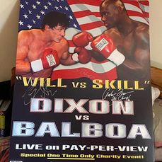 Rocky Balboa (2006)  - Original Movie Prop - Screen Used Fight Poster (Card backed)  - Signed by Sylvester Stallone (Rocky Balboa) & Antonio Tarver (Mason Dixon)  - Autogramm, Poster - This Unique Prop was purchased directly from Antonio Tarver