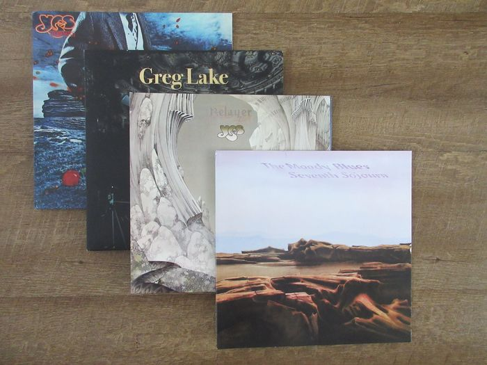 Various Artists/Bands in Prog & Symfo Rock - Yes - Moody Blues - Greg Lake - - Multiple titles - LP's - 2009/2017