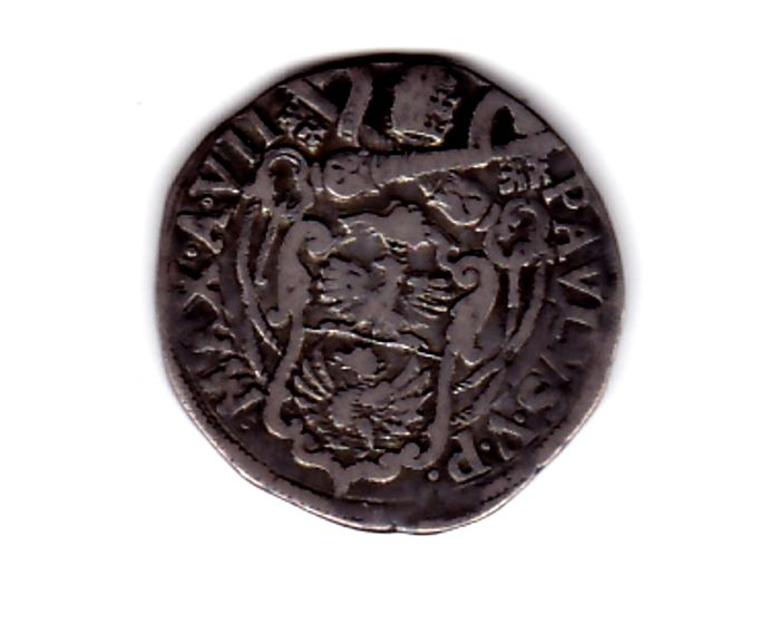Italien - Kirchenstaat - Paolo V, Testone, 1612 A VII - Silber