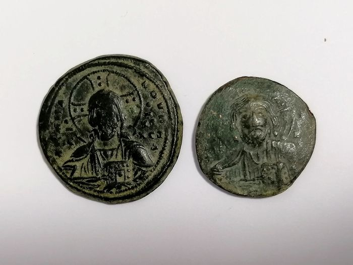 Byzantinisches Reich - Lot comprising 2 AE Folles, incl.: Anonymous, time of Basil II & Constantine VIII, circa 976-1025