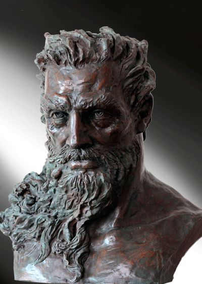 Sculpture, Poseidon, the Lord of Sea and Thunder - Modern