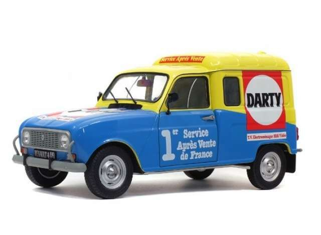 Solido - 1:18 - Renault 4 F4 Darty year 1988  - blue / yellow