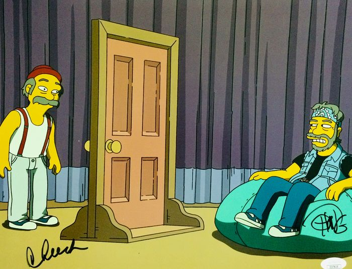 The Simpsons - Cheech Marin & Tommy Chong - Autograph, Photogrph, Authentic Signed Poster ( 28 x 35 cm ) with COA